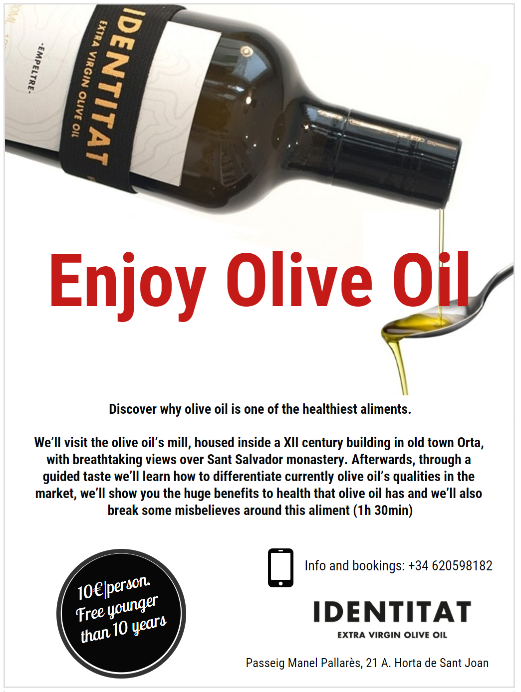 Enjoy olive oil